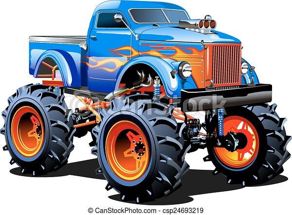 Un camión de monstruos - csp24693219