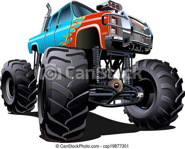 Un camión de monstruos - csp19877301