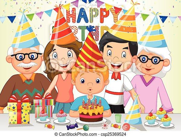 Un caricatura feliz de cumpleaños - csp25369524