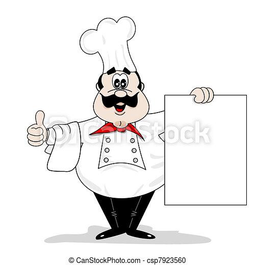 Un cocinero de caricaturas - csp7923560
