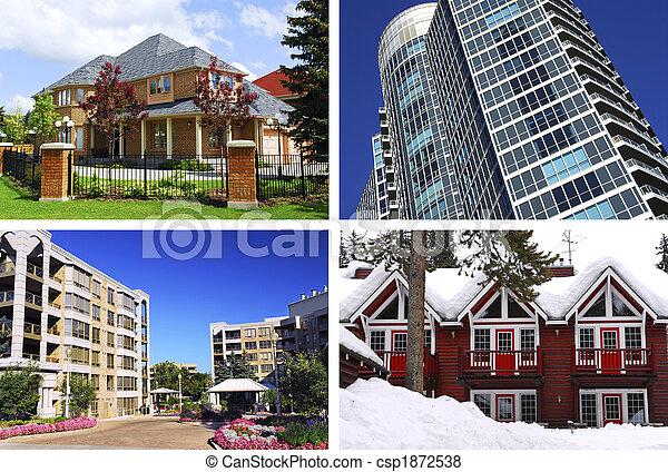 Un collage de bienes raíces - csp1872538
