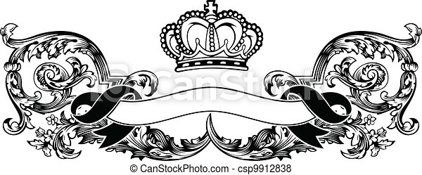 Un color de curvas de corona real - csp9912838