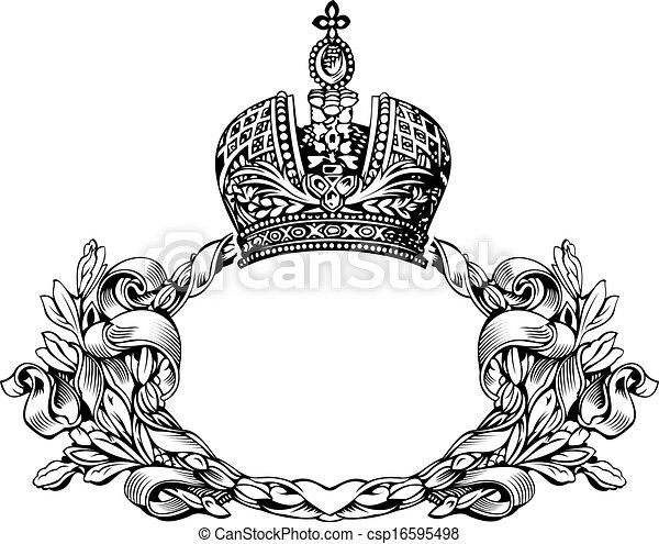 Un color de elegantes curvas de la corona real - csp16595498
