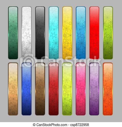 Un conjunto de brillantes iconos para tu diseño - csp8722958