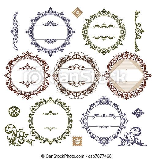 Un conjunto de cuadros de cosecha real - csp7677468