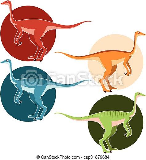Un conjunto de dinosaurios de avestruz - csp31879684