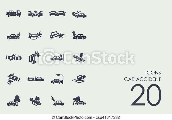 Un conjunto de iconos de accidentes de coche - csp41817332