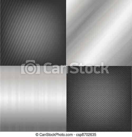 Un conjunto de texturas de metal - csp8702635