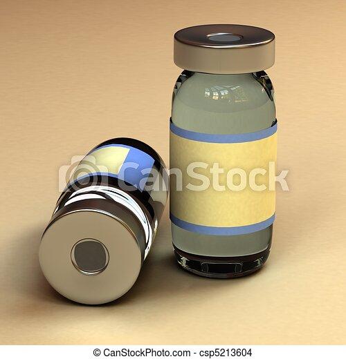 Un contenedor de botellas de medicina - csp5213604