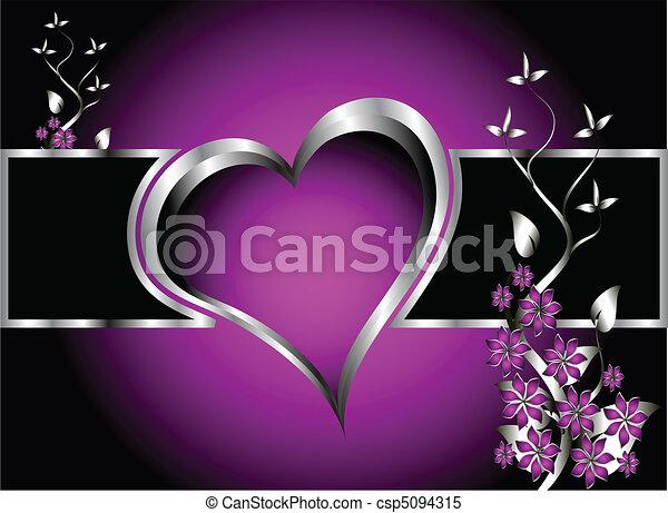 Un corazón violetas en el fondo del día - csp5094315