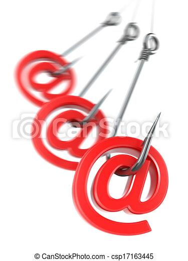 Un correo de Phishing. 3D - csp17163445
