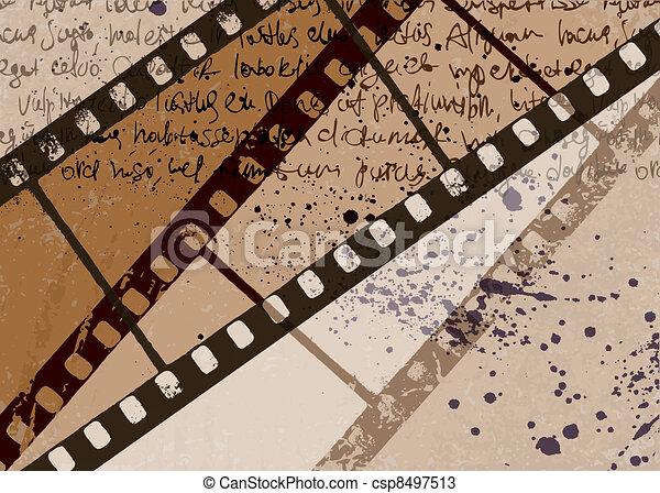 Un cuadro texturizado de imágenes abstractos del vector. EPS10. - csp8497513