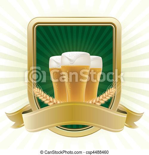 Un elemento de diseño para la cerveza - csp4488460