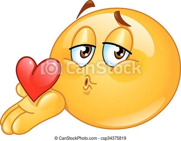 Un emoticono de besos - csp34375819