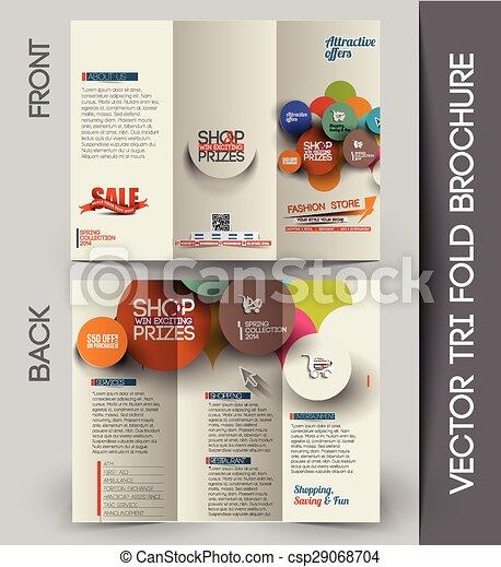 Un folleto de negocios corporativo - csp29068704