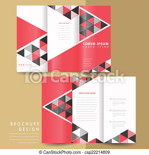 Un folleto de triples geométricos moderno - csp22214809