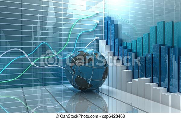 Un fondo abstracto de mercado de valores - csp6428460