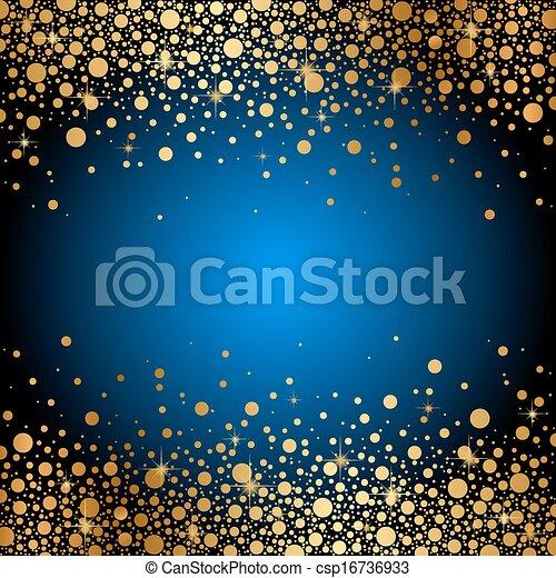Un fondo azul con chispas de oro - csp16736933
