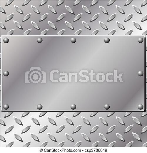 Un fondo de metal - csp3786049