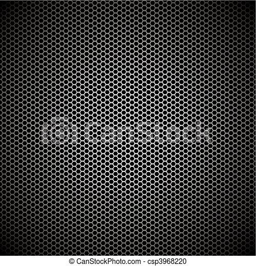 Un fondo de metal hexagon - csp3968220