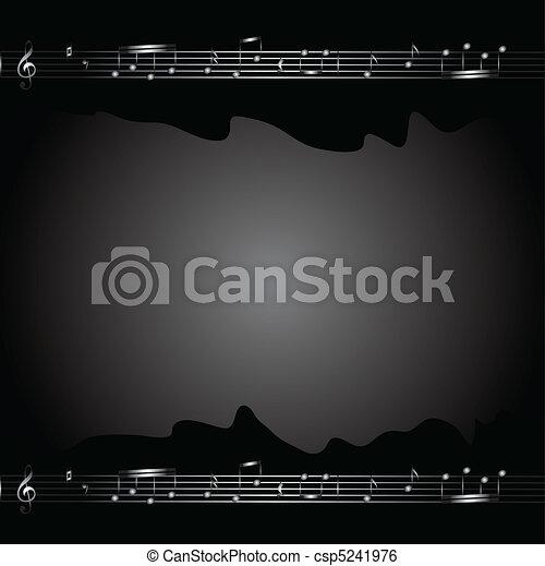 Un fondo musical - csp5241976