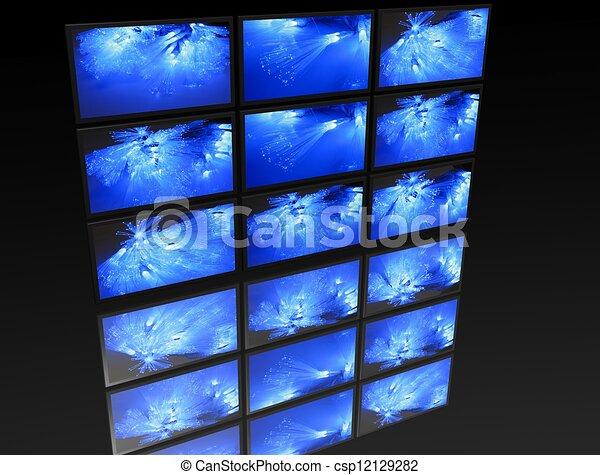 ¿Un gran panel de TV - csp12129282