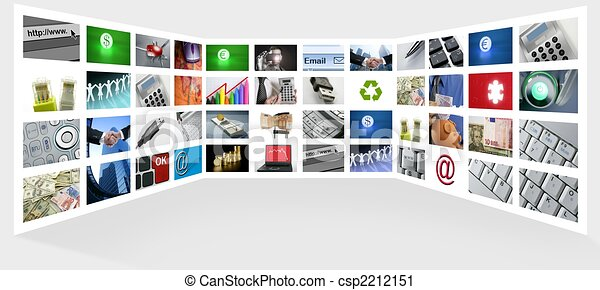 Un gran panel del negocio de Internet - csp2212151