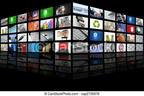 Un gran panel del negocio de Internet - csp2735976