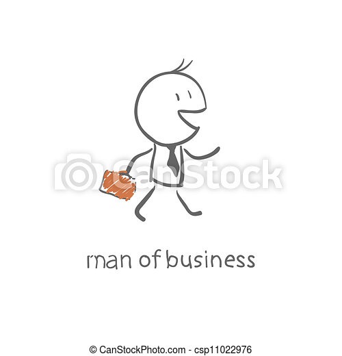Un hombre con un maletín - csp11022976