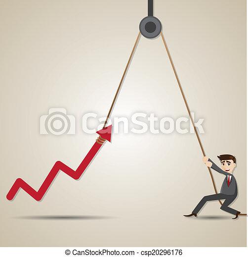 Un hombre de negocios con flechas - csp20296176