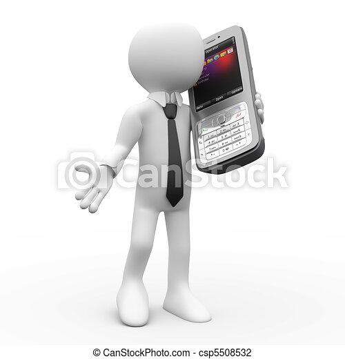Un hombre hablando por teléfono - csp5508532