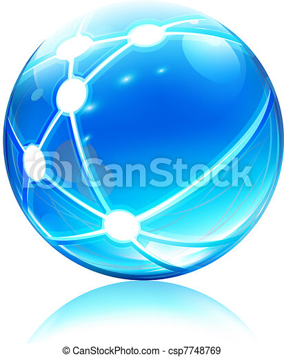Un icono de la esfera de la red - csp7748769
