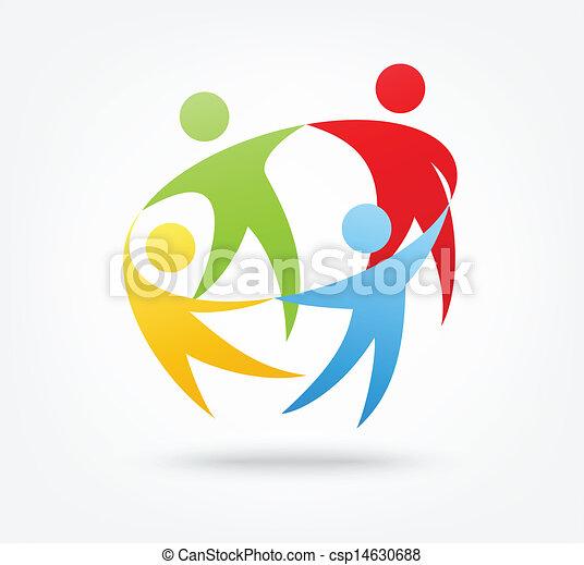 Un icono del trabajo en equipo - csp14630688