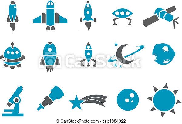 Un icono espacial listo - csp1884022