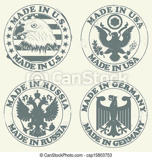 Un juego de sellos - csp15803753