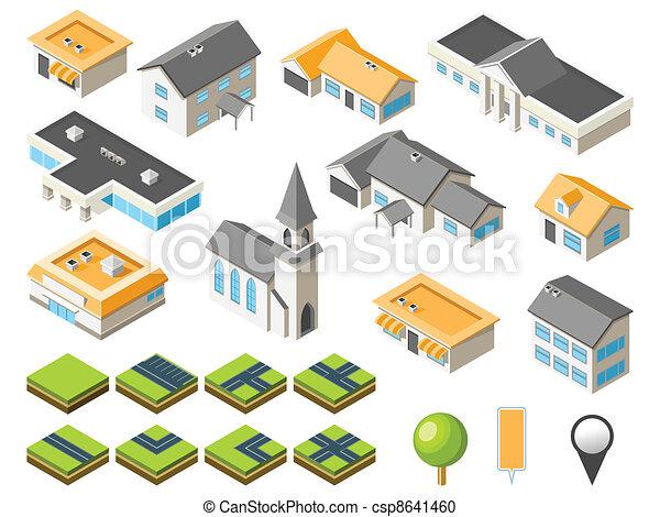 Un kit urbanístico suburbano - csp8641460