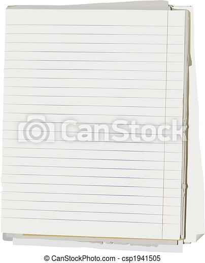 Un libro de notas - csp1941505