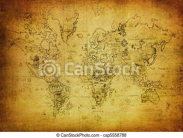Un mapa antiguo del mundo - csp5558788