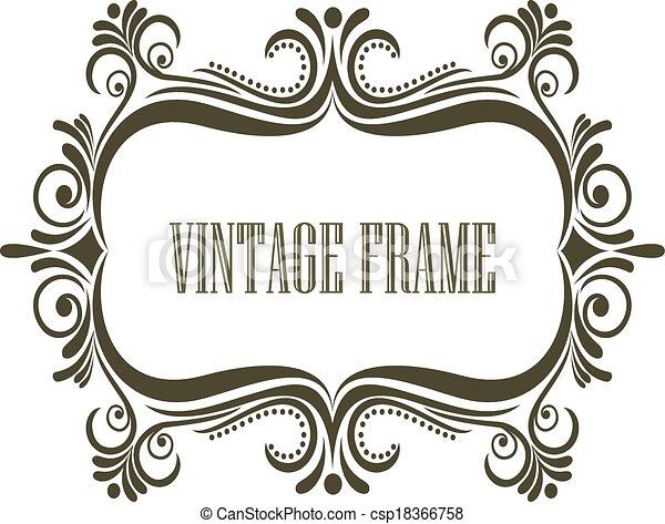 Un marco antiguo con embellecimientos - csp18366758