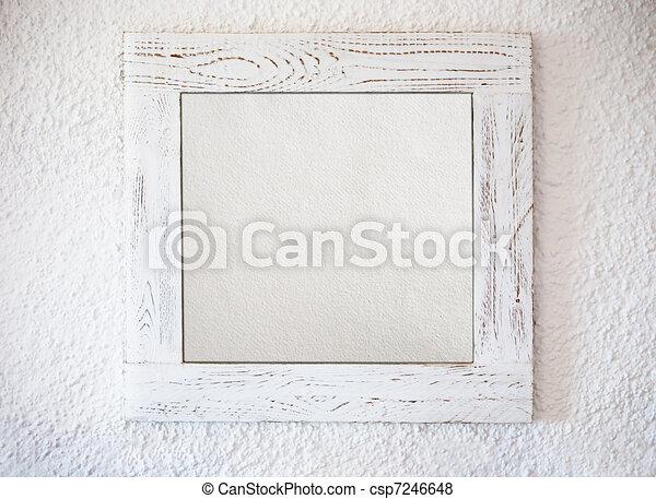 Un marco blanco - csp7246648