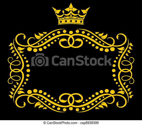 Un marco con corona - csp8938399
