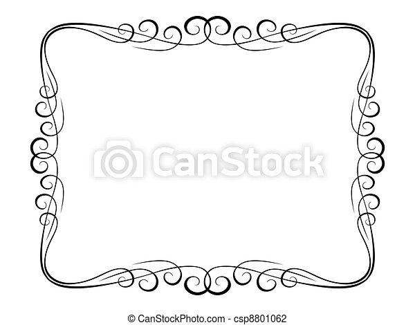 Un marco decorativo ornamental de caligrafía - csp8801062