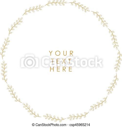 Un marco floral vector - csp45965214