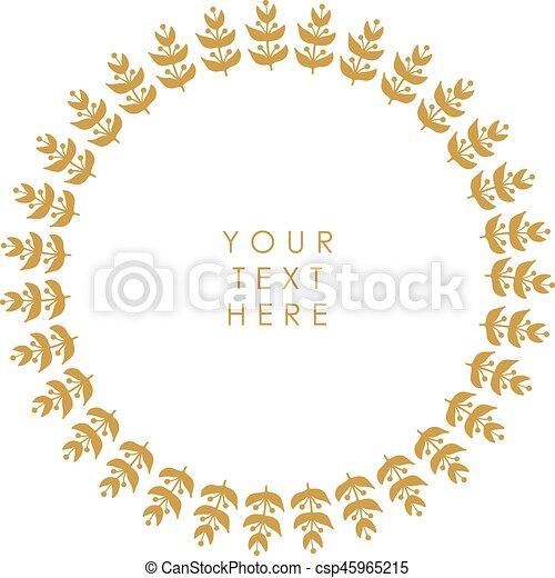 Un marco floral vector - csp45965215