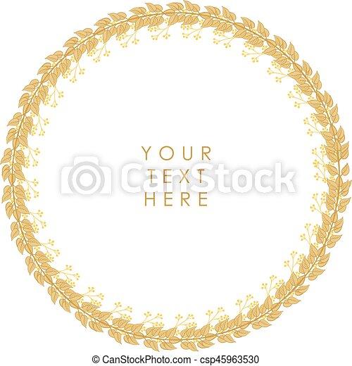 Un marco floral vector - csp45963530