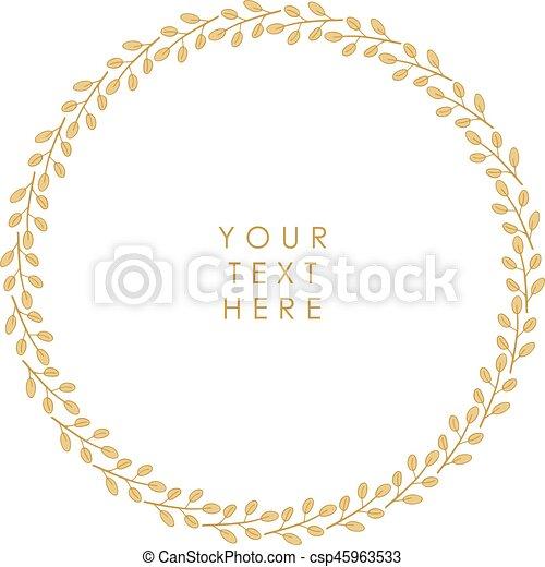Un marco floral vector - csp45963533