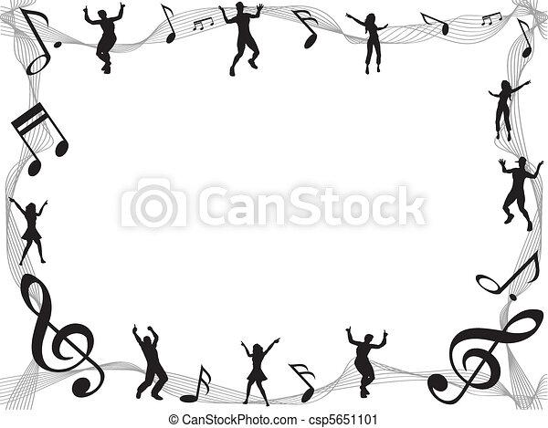 Un marco musical - csp5651101