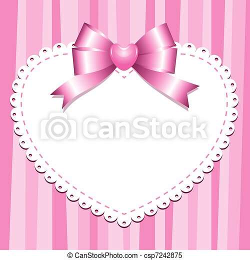 Un marco rosa - csp7242875
