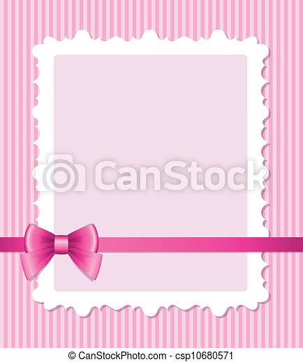 Un marco rosa con arco - csp10680571