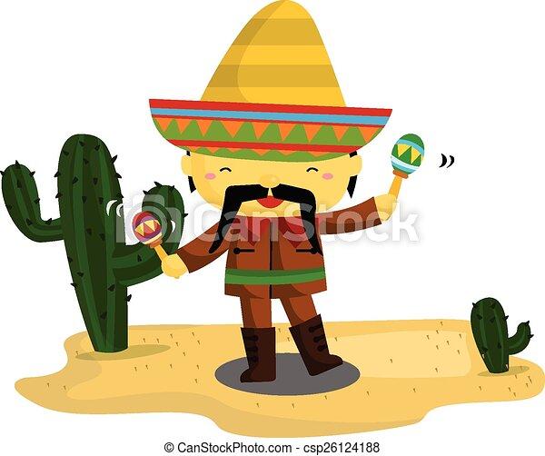Un mexicano - csp26124188